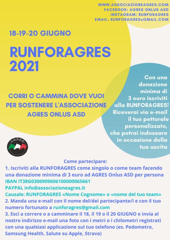 18-19-20 giugno 2021… RUNFORAGRES!!!